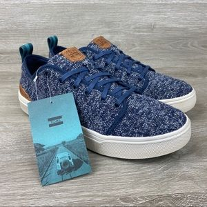Toms Trvl Lite Low Navy Knit Sneakers Size 8.5 NWT